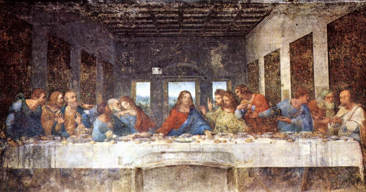 DaVinci Last Supper painting