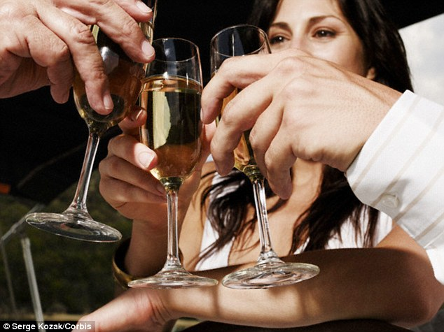 Champagne or dry white wines have less sugar than sweeter red or white wines. That