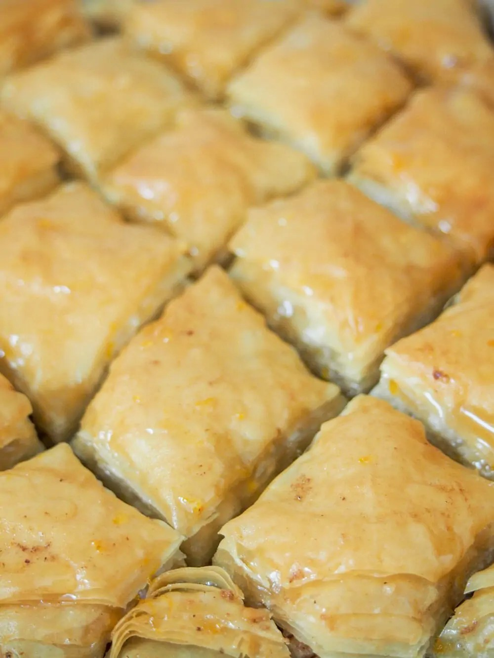 baklava cooling in dish
