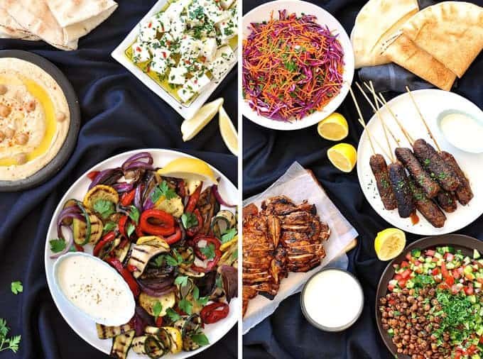 Arabian Feast - 7 dishes prepared in 1 hour. Fantastic for entertaining on a budget.