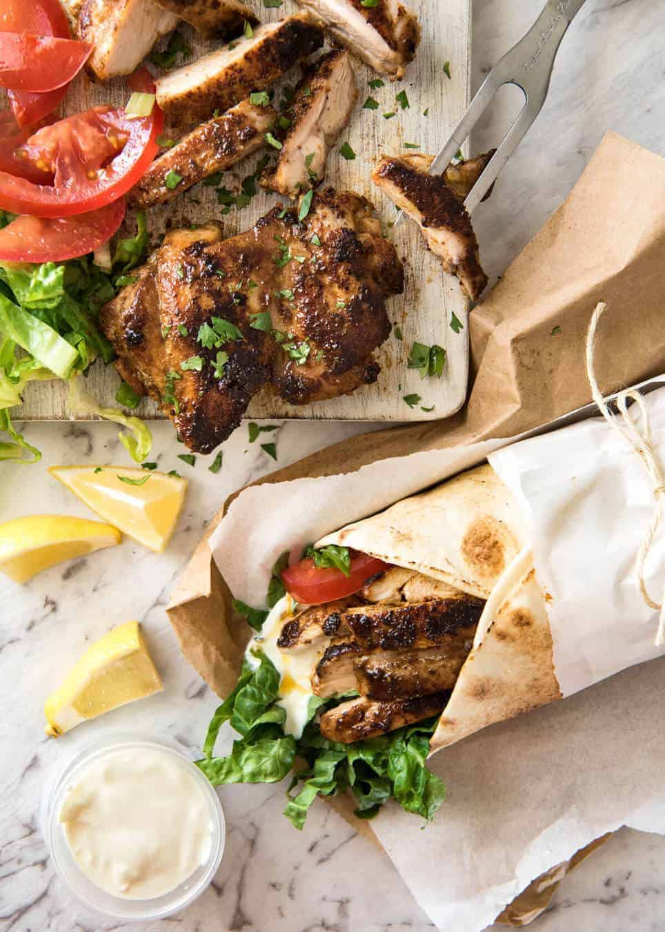 The flavour of this Chicken Shawarma marinade is absolutely incredible, yet made with just a handful of everyday spices. recipetineats.com